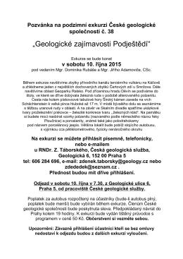 Připojený odkaz - Česká geologická společnost