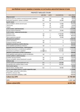 Celkem bez DPH 15 700 800 DPH 3 297 168 Celkem včetně DPH