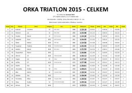 ORKA TRIATLON 2015 - CELKEM