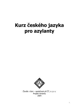 Kurz českého jazyka pro azylanty