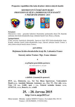 Propozice republikového kola družstev dobrovolných hasičů