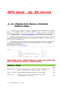 30% sleva do 30. června S – 21 Místopis Čech, Moravy a Slovenska