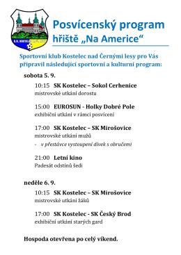 posvícení program - SK Kostelec n.Č.l.