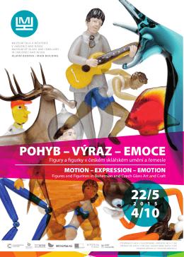 Plakát POHYB – VÝRAZ – EMOCE - Muzeum skla a bižuterie v