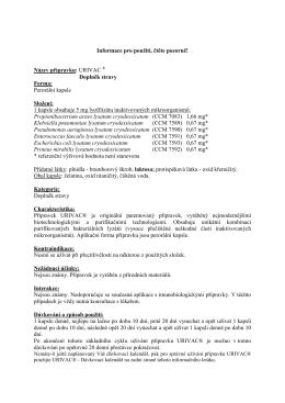 URIVAC - S&D Pharma CZ