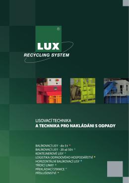 lisovací technika a technika pro nakládáni s odpady - LUX