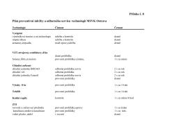 Plán preventivní údržby a odborného servisu technologií MSVK