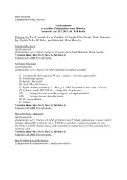 Výpis usnesení ze zasedání Zastupitelstva obce Oslavice 2/2015