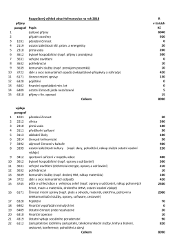 Příloha 5 – Rozpočtový výhled obce Heřmanovice
