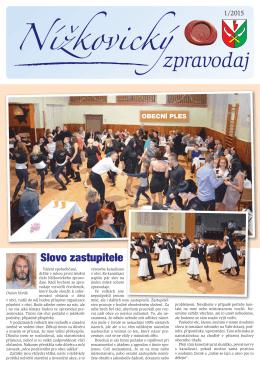 Nížkovický zpravodaj č. 1/2015