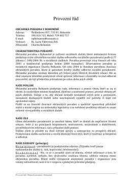 Provozní řád - Charita Bohumín