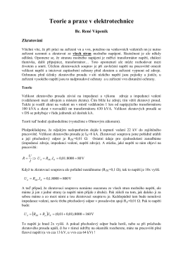 Teorie a praxe v elektrotechnice  - ELEKTRO