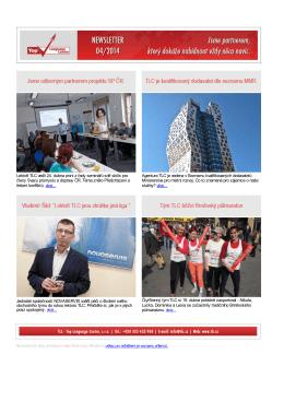 Newsletter - duben/2014