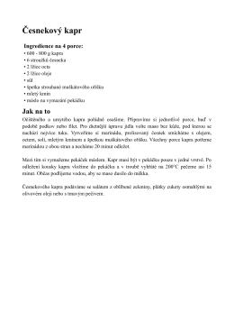 Recept ve formátu PDF