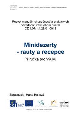 Minidezerty - rauty a recepce