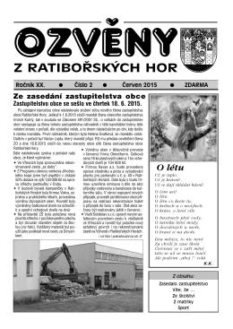 O létu - Obec Ratibořské Hory