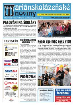 noviny - Marianskelazne.TV