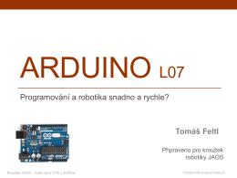 Robotika - JAOS-Arduino L07