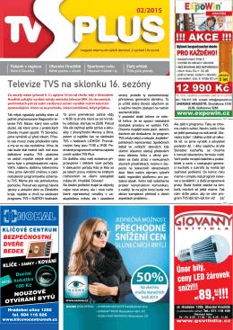 Televize TVS na sklonku 16. sezóny - Regionální televize TVS