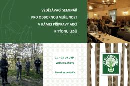 Brožura ze semináře - Ústav pro hospodářskou úpravu lesů Brandýs
