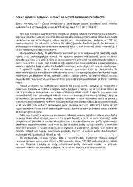 Více o dopadu působení detektorářů na movité - No
