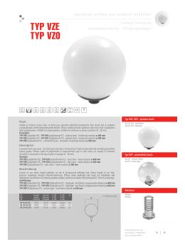 TYP VZE TYP VZO - VM elektro s.r.o.