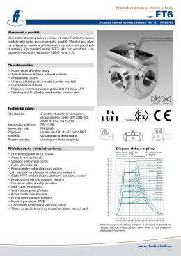 www.fluidtechnik.eu typ: FT6 Vlastnosti a použití: Kompaktní 3