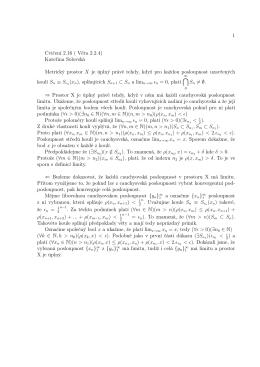 1 Cvičení 2.16 ( Věta 2.2.4) Kateřina Solovská Metrický