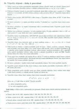 24. výpočty objemů - úlohy k procvičení
