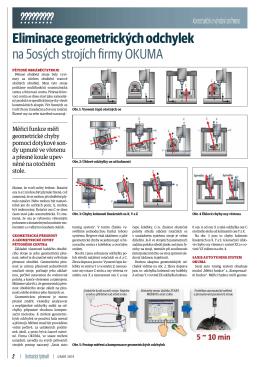 Eliminace geometrických odchylek na 5osých strojích firmy