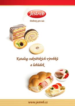 Katalog cukrářských výrobků a lahůdek
