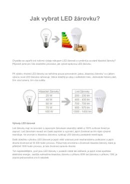 Jak vybrat LED žárovku? - Moje