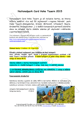 Nationalpark Card Hohe Tauern 2015
