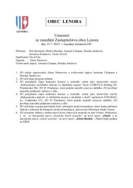 Usnesení 15.7. 2015