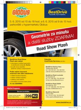 Geometrie za minutu a další služby ZDARMA! Road Show Plzeň