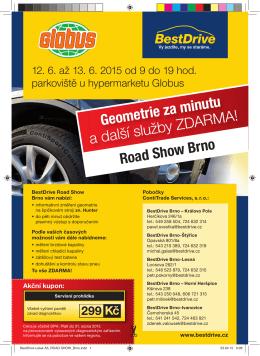 Geometrie za minutu a další služby ZDARMA! Road Show Brno