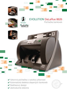 Počítačka bankovek Talaris EV 8626