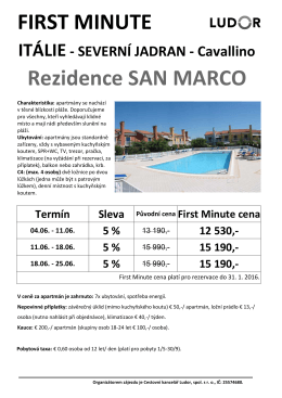 FIRST MINUTE Rezidence SAN MARCO