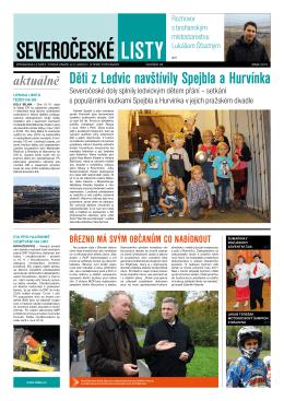 Děti z Ledvic navštívily Spejbla a Hurvínka