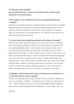 Patrikem Ouředníkem - Svět knihy Praha 2015
