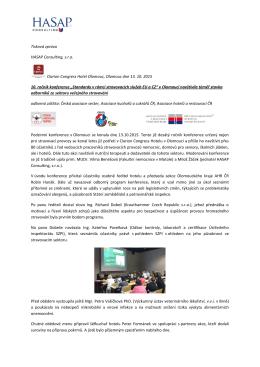 Tisková zpráva z 10. ročníku konference