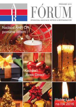 ahr fórum - prosinec 2015 - Asociace hotelů a restaurací České
