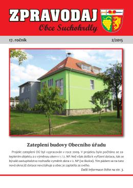 ZPRAVODAJ - Obec Suchohrdly