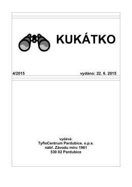 Kukátko 4-15 - TyfloCentrum Pardubice, o.p.s.