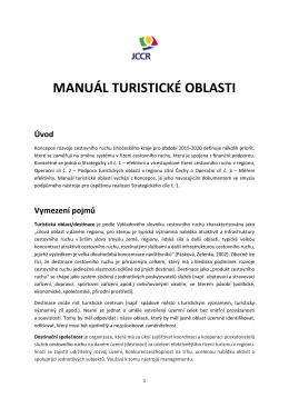 Manuál turistické oblasti - 27.11.2015