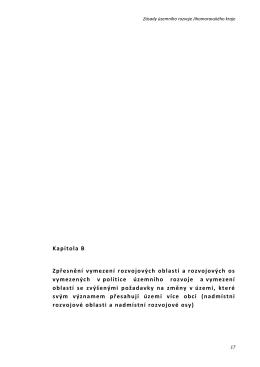 Kapitola B Zpřesnění vymezení rozvojových oblastí a rozvojových os
