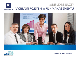 Komplexní služby v oblasti pojištění a risk managementu