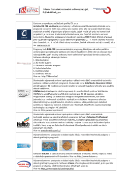1. Partneři v oblasti výuky ICT, CAD/CAM a grafického software