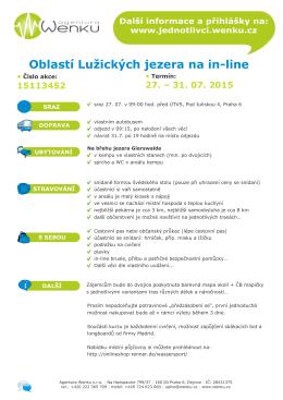 Oblastí Lužických jezera na in-line