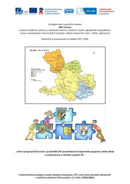 Strategie území správního obvodu ORP Trutnov v oblasti předškolní